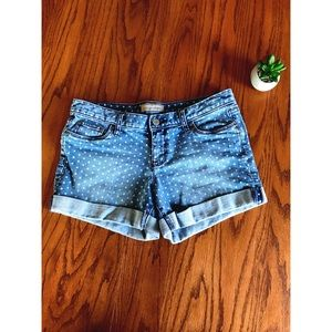Banana Republic Polka Dot Denim Shorts